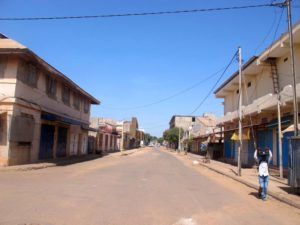 Streets of Banjul were emty for several days
