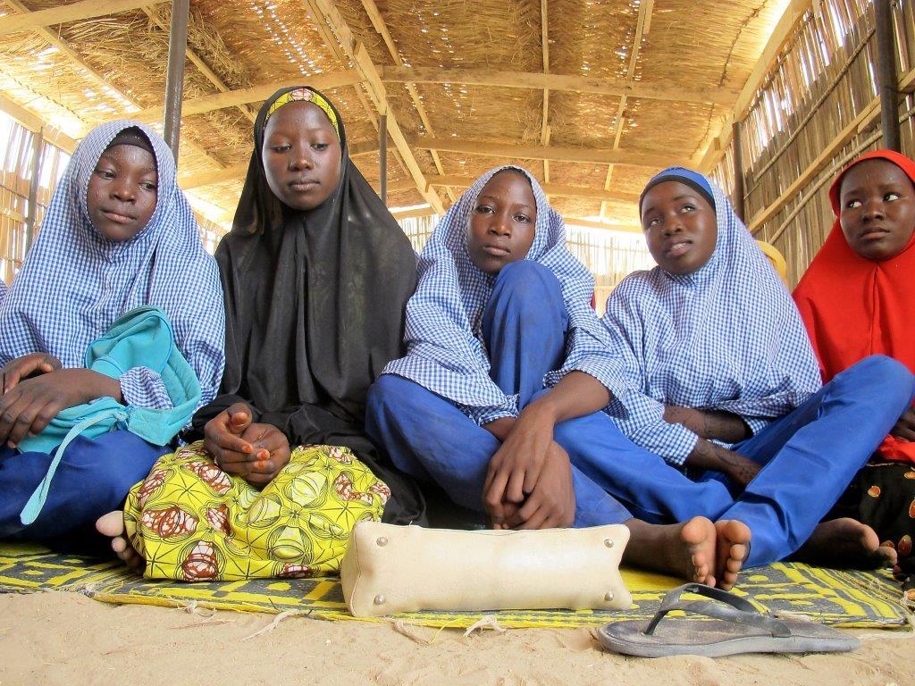 Ontheemde kinderen in Maiduguri