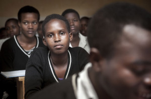 Rwanda, around Kigali, September 2012 Girls at a private school.  Photo: Petterik Wiggers/Panos Pictures